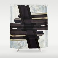 crystal Shower Curtains featuring Crystal by CrookedHeart