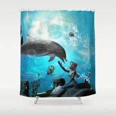 Cute mermaid  Shower Curtain