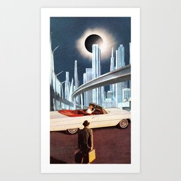 Off work, lets go cruisin'! Art Print