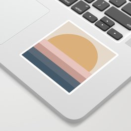 Neutral 70's Minimal Sunset Sticker