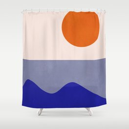 abstract minimal 50 Shower Curtain