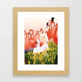 13 Flamencos Framed Art Print