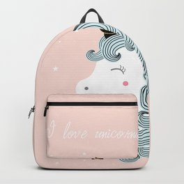 I love unicorns Backpack