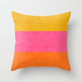 three stripes - summer brights Throw Pillow