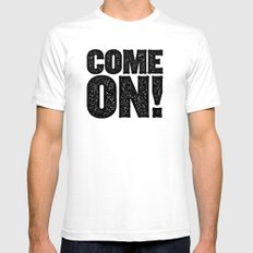 COME ON! White SMALL Mens Fitted Tee