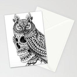 Great Horned Skull Stationery Cards
