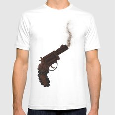 Death By Chocolate MEDIUM White Mens Fitted Tee