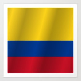 Flag of Colombia Art Print
