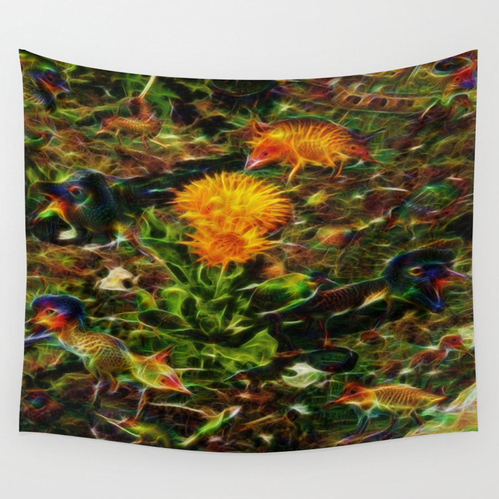 Animal Garden Wall Tapestry by Luciasgaragesale TPS3910126