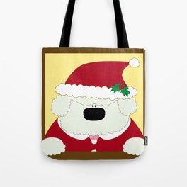 Doggy Santa Tote Bag