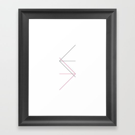 #309 Directions – Geometry Daily Framed Art Print