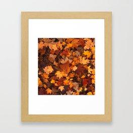 Autumn Fall Leaves Framed Art Print