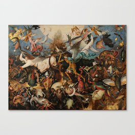 Pieter Bruegel the Elder The Fall of the Rebel Angels Canvas Print