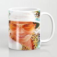 fear and loathing Mugs featuring Fear and Loathing in Las Vegas by ururuty
