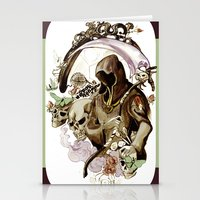 tarot Stationery Cards featuring Death Tarot by A Hymn To Humanity
