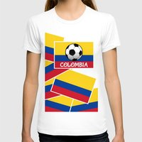 colombia T-shirts featuring Colombia Football by mailboxdisco