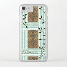 Nature's Patterns Series: Titled Pattern Clear iPhone Case
