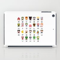 uncharted iPad Cases featuring Video Games Pixel Alphabet by PixelPower