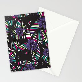 Lined Art Floral Stationery Cards