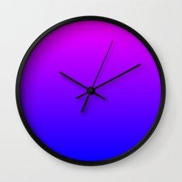 Fuchsia/Violet/Blue Ombre Wall Clock