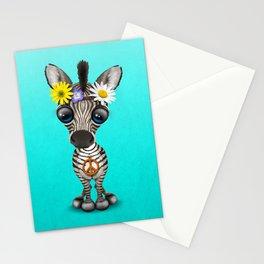 Cute Baby Zebra Hippie Stationery Cards