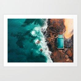 Rock Pool By The Sea Art Print