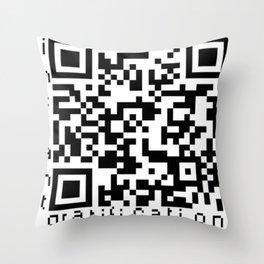 QRcode=Instant gratification Throw Pillow