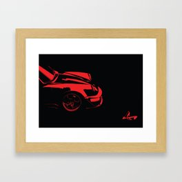 automotive illustration work for red Porsche 911 with Jimmy Choo shoes Framed Art Print