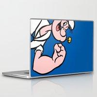 popeye Laptop & iPad Skins featuring Popeye by Jason Michael