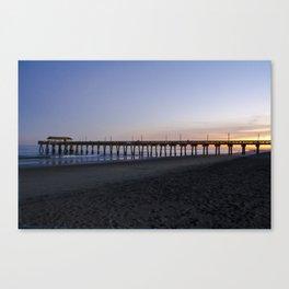 Sunset at Tybee Island Pier Canvas Print