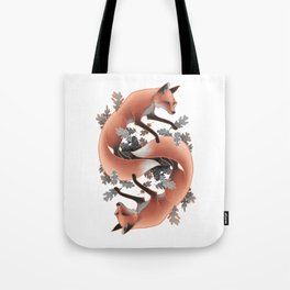 Foxes Chasing Tails Tote Bag