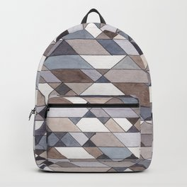 Triangle Pattern no.22 grays Backpack