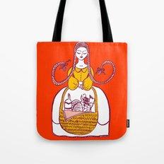 Fille Avec Panier Picinic Tote Bag