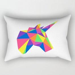 Rainbow Unicorn Geometric Design Rectangular Pillow