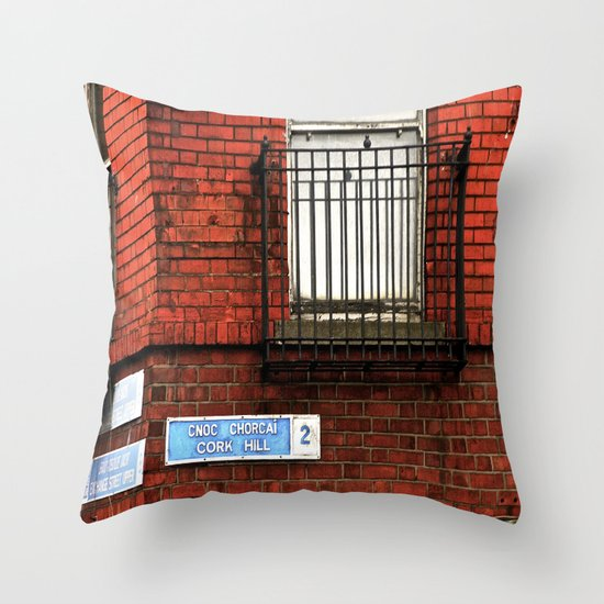 Exchange St. & Cork Hill Throw Pillow
