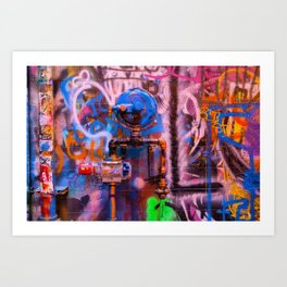 Camouflaged Pipework Art Print
