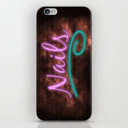 Neon Nails Sign iPhone Skin