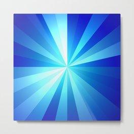 Shiny Blue Metal Print