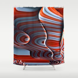 Alien Abductions and Probes Shower Curtain