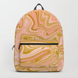 Gold Caramel Pastel Pink Backpack