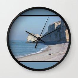 Beach at Etretat, France Wall Clock