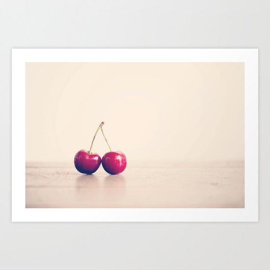 like a double cherry ... Art Print