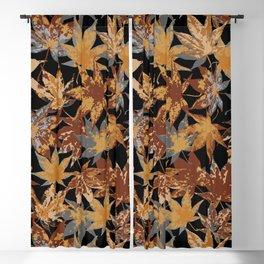 Maple leaf autumn colours Blackout Curtain