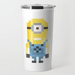 8bit Minion (Kevin) Travel Mug