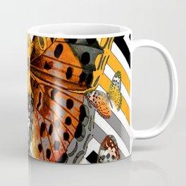 AWESOME  ORANGE-YELLOW BUTTERFLY GRAPHIC MODERN ART Coffee Mug