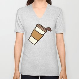 Take it Away Coffee Pattern Unisex V-Neck
