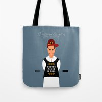 literature Tote Bags featuring Victorian Literature - George Moore by Natallia Pavaliayeva
