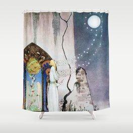 12,000pixel-500dpi - Kay Nielsen - Lassi Opens The Forbidden Open Door And Escapes The Moon Shower Curtain