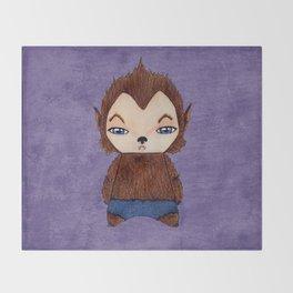A Boy - Werewolf Throw Blanket
