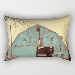 Rustic Teal Barn Modern Country Cottage Chic Farmhouse A454 Rectangular Pillow
